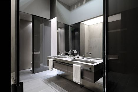 Modern Bathroom Interior Concrete House II By A Cero Architects Concrete  House II In Madrid By A Cero Architects Great Ideas