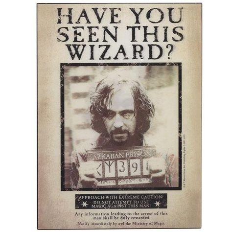 Harry Potter Sirius Black Azkaban Wanted Poster Lenticular Wall Decor