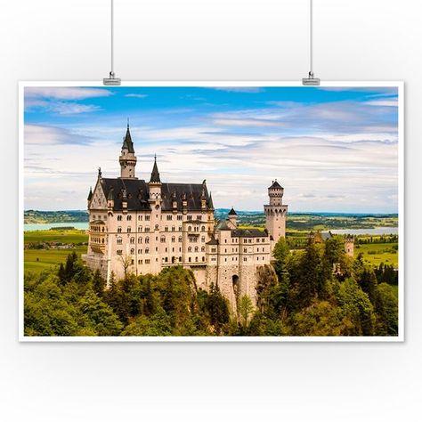 Neuschwanstein Castle, Germany (Art Prints, Wood & Metal Signs, Canvas, Tote Bag, Towel)