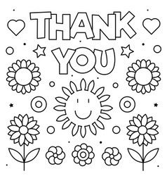 Thank You Coloring Page Black And White Vector Heart Coloring Pages Shape Coloring Pages Unicorn Coloring Pages