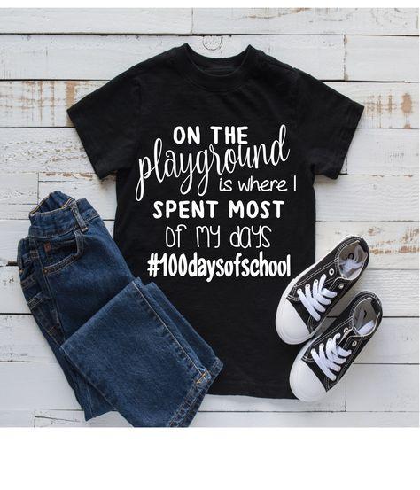 100 days of school shirt 100 days of school shirt 100 days of school shirt<br> 100 Days Of School, First Day Of School, School School, Shirts For Girls, Kids Shirts, Mom Shirts, Funny Shirts, 100days Of School Shirt, Kindergarten Teacher Shirts