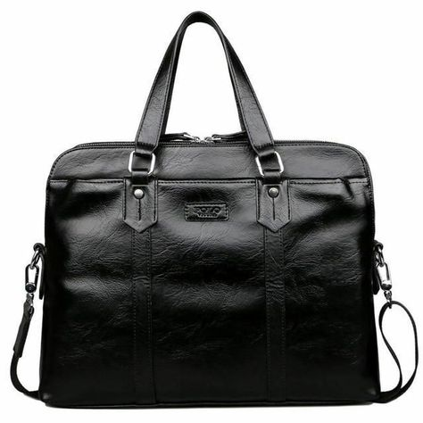 Men s Leather Bag Laptop Handbag Luxury Genuine Leather Briefcase for  Documents Cow Skin Messenger Bags in 2019  e4185e13a1edd