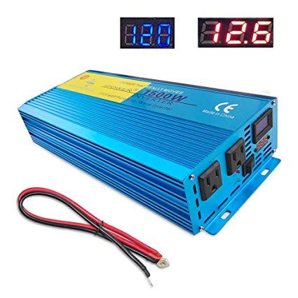 1500W 12V DC TO 110V AC Automotive Power Inverter Adapter Converter 60HZ w//USB
