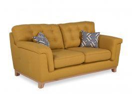 2 Seater Highback Yellow Fabric Sofa Fjord Mustard Sofa Fabric Sofa