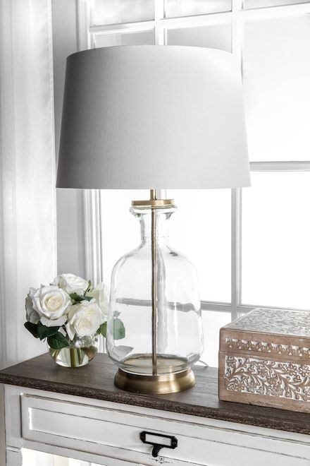 Revere 24 Inch Emma Clear Glass Table Lamp Gold Lamp Clear Glass Table Lamp Clear Glass Lamps Glass Table Lamp