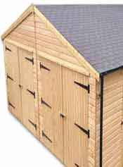 Timber Garages Manufactured Using Prefabricated Wooden Sections.