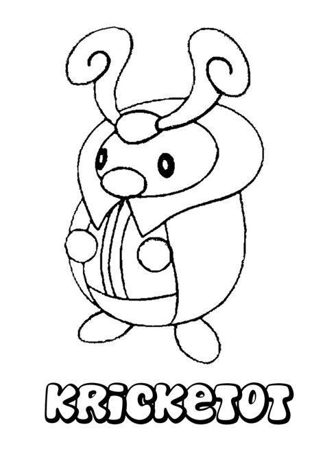Pokemon Coloring Page Of Kricketot Coloring Pages Coloring