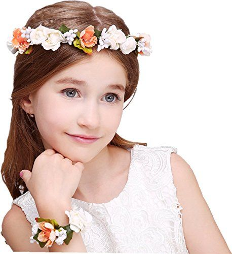 Party Wedding Wrist Band Flower Headband Hair Head Band Wreath Crown Garland S