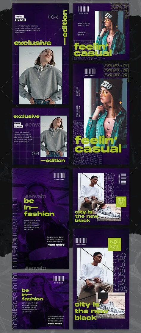 Streetwear Instagram Post and Story Templates PSD