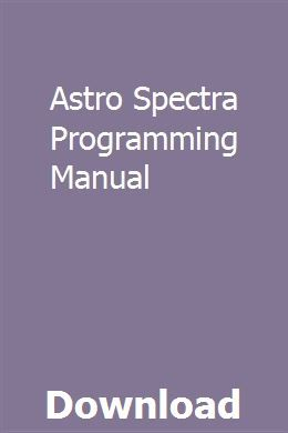 Astro Spectra Programming Manual Repair Manuals Ford Transit Installation Manual