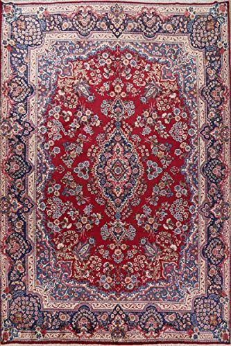 Luxury Floral Oriental Red Navy Yazd Persian Area Rug Handmade Wool Dining Room Carpet 10x13 9 9 X 13 4 In 2020 Room Carpet Persian Area Rugs Area Rugs