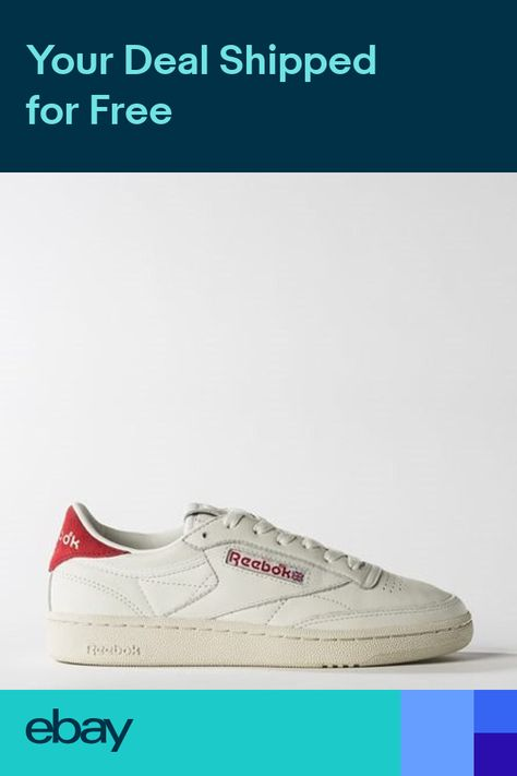 New Womens REEBOK CLUB C 85 TG Vintage WHITERED BS7033 US 5.0 - 11.0 TAKSE a3cf09abd