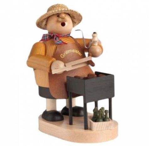 $ 201.25 | Wooden Standing Grill Master Incense Burner Smoker Made In Germany