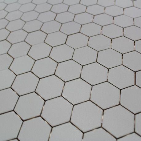 Carrelage Hexagonal Sol Et Mur Gris Mat Disponible Chez Parquet