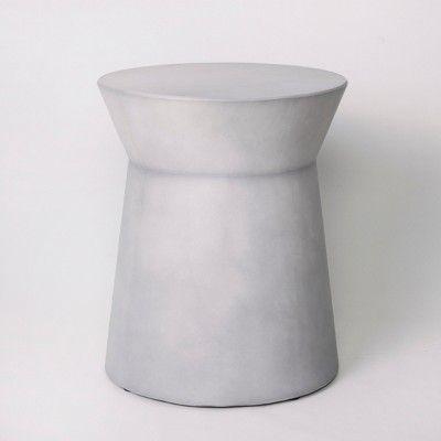 Faux Concrete Accent Table Gray Project 62 Target Outdoor Accent Table Patio Accent Table Accent Table