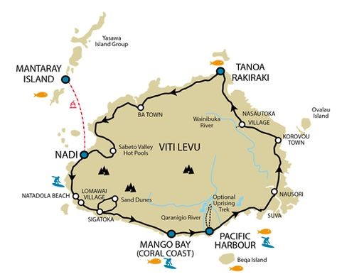 zotip Fiji, Fiji islands and South pacific - new world map fiji country