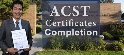 ACST Certificate of Completion