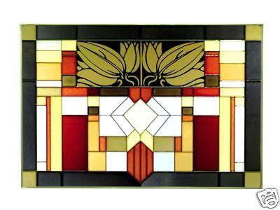 42x10 Stained Art Glass FLEUR DE LIS Window Suncatcher