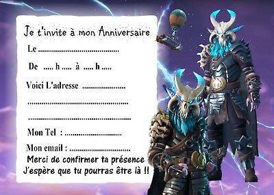carte anniversaire fortnite gratuite