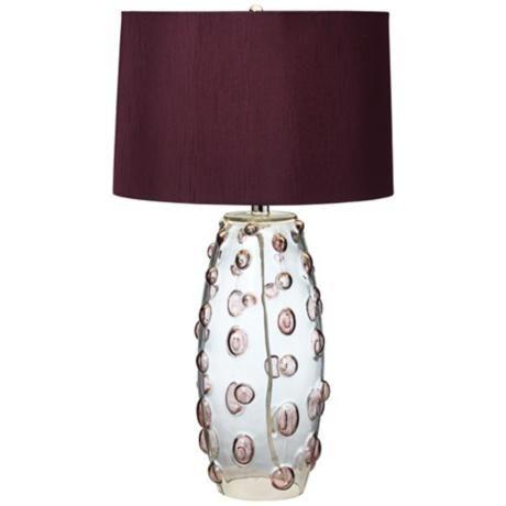 Possini Euro Faroe Aubergine Art Glass Table Lamp