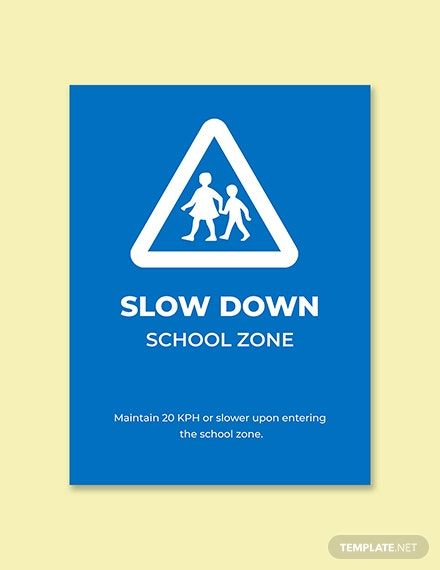 School Zone Sign Template In 2020 School Zone Sign School Zone Sign Templates