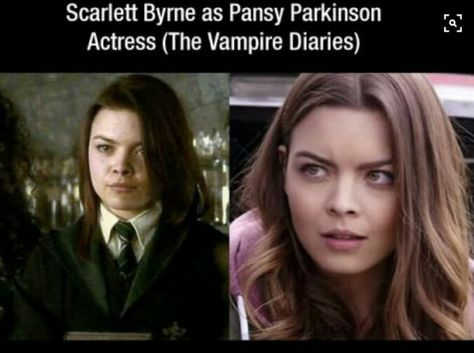 Pansy Harry Potter Nora The Vampire Diaries Wow Never Knew That Before Scarlett Byrne Harry Potter Pansy Parkinson Pansy Harry Potter
