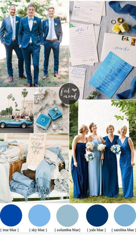 30 Blue Wedding Colour Paletttes For your blue wedding theme
