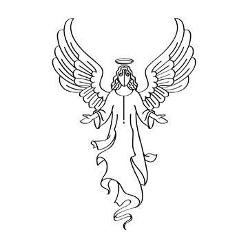 Jannatulnisa I Will Vector Line Art Illustration In 24 Hours For 5 On Fiverr Com In 2021 Angel Clipart Angel Wings Clip Art Clip Art