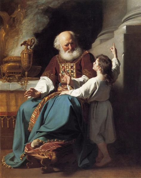 """Samuel Reading to Eli the Judgments of God Upon Eli's House - John Singleton Copley (1780). """"And he said, 'What is the word that He spoke to you? Please do not hide it from me. May God do so to you, and more also, if you hide anything from me of all the words that He spoke to you.' So Samuel told him everything and hid nothing from him. And he said, 'It is the LORD; let Him do what seems good to Him.'"""" 1 Samuel 3:17-18"""