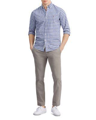 Polo Ralph Lauren Classic Fit Plaid Oxford Shirt - Hunter Green / Navy Multi