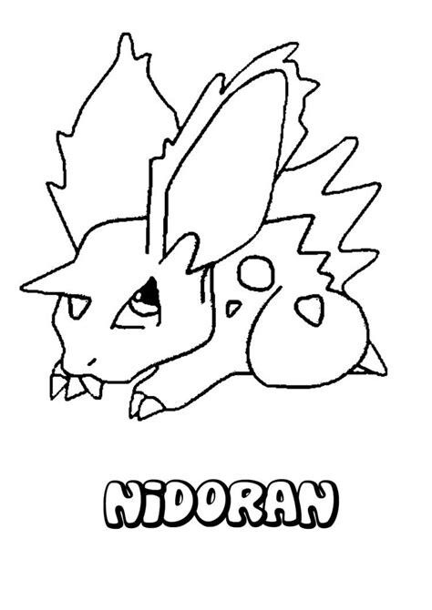 Pokemon Coloring Page Of Nidoran Pokemon Coloring Pages Coloring Pages Coloring Pages For Kids