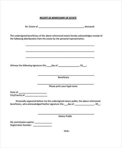 Beneficiary Receipt And Release Form Emergency Room Emergency