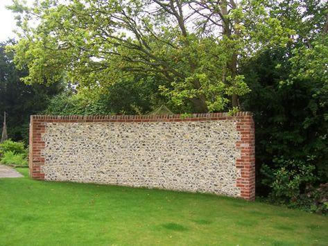 Flint Wall With Brick Coursing | Beautiful Walls | Pinterest | Bricks, Walls  And Brickwork