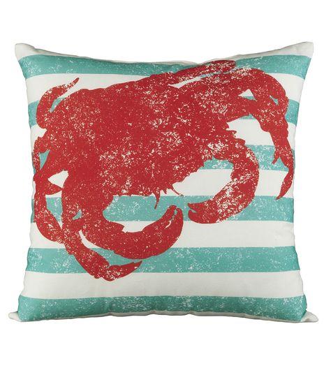 Escape to Paradise King Crab Island Pillow | Summer Home Decor | Summer Inspiration