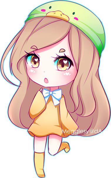 Lake By Megglesy Kawaii Girl Drawings Chibi Anime Kawaii Cute Anime Chibi