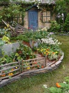 gemüsegarten anlegen vorhof ideen hochbeeten grenzen | Garten ...