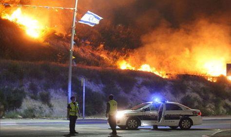 114 حريقًا في الضفة منذ صباح الخميس بينها حريق في أحراش قرية جيبيا شمال غرب رام الله ولا زال مشتعلاً