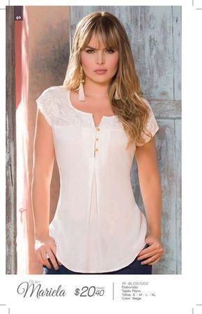 Jolie Ecuador C7 2016 Ropa Blusas Mujer Confeccion De Blusas