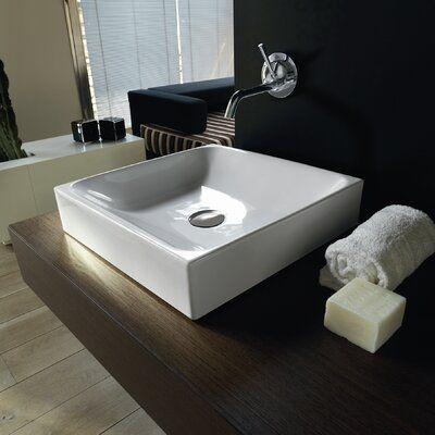 Ws Bath Collections Cento Ceramic Ceramic Square Vessel Bathroom Sink Bathro Contemporary Bathroom Sinks Modern Bathroom Sink Interior Design Bathroom Small