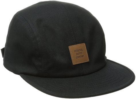 Herschel Supply Co. Men s Owen Logo Hat - Black tan - CP11W7RTAUV - Hats    Caps 0cb94e25c9a7