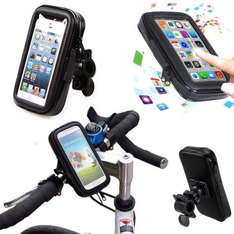 Waterproof Motorcycle Bike Cycle Gps Sat Nav Leather Case Mount