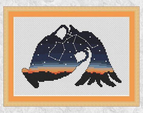 Libra cross stitch pattern Horoscope cross stitch PDF Easy counted cross stitch Zodiac embroidery home decor gift Astrology cross stitch