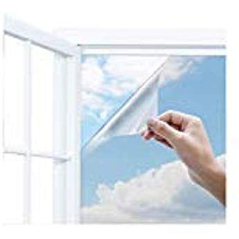 Uiter One Way Window Film Anti Uv Static Cling Window Film 100 Light Blocking For Privacy Removal Decorate Heat Control Gl Window Film Windows Office Window