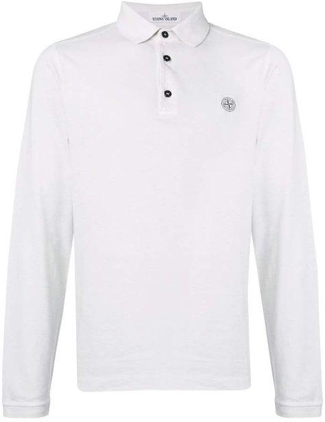 9fff0e4e Stone Island Long Sleeve Polo Shirt   Products   Stone island, Mens ...
