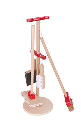 Drewniany Zestaw Sprzatajacy Dla Dzieci Miotla Mop Cleaning Kit Cleaning Toys Broom And Dustpan