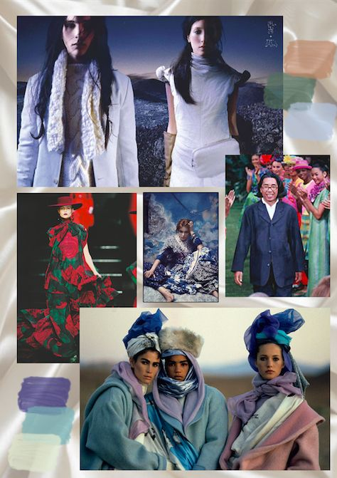 Ashleigh Clarke (c)  Kenzo Heritage Mood Board.  Not all images are my own.