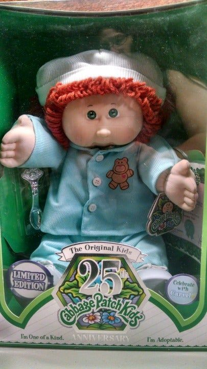 Nib Cabbage Patch 25th Anniversary Girl On Mercari Cabbage Patch Babies Cabbage Patch Dolls Cabbage Patch Kids
