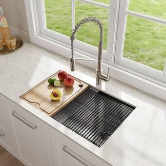 Kore Workstation 36 L X 20 W Farmhouse Kitchen Sink Single