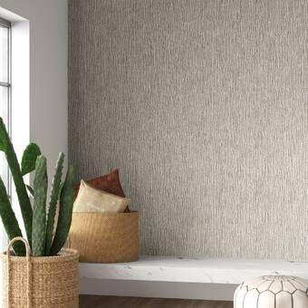 Mellon 33 L X 21 W Glitter Shimmer Wallpaper Roll Wallpaper Roll Grasscloth Textured Wallpaper