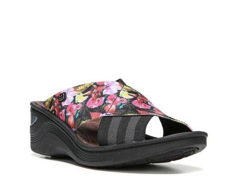 0ab15aea42f Women s BZees Desire Wedge Sandal - Black Floral
